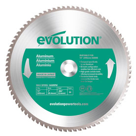 Evolution 355mm Aluminium Saw Blade
