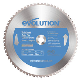 Evolution 355mm Thin Steel Saw Blade