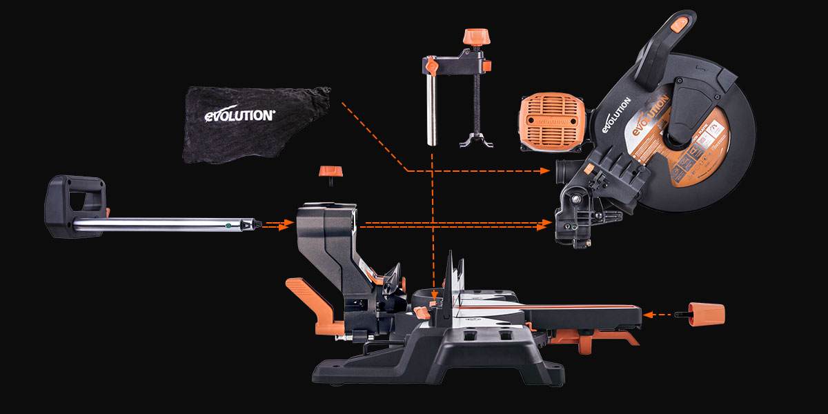 Evolution miter saws assembly guide
