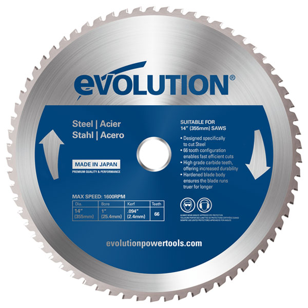 10 in. 52T, 1 in. Arbor, TCT Mild Steel and Ferrous Metal Cutting Blade