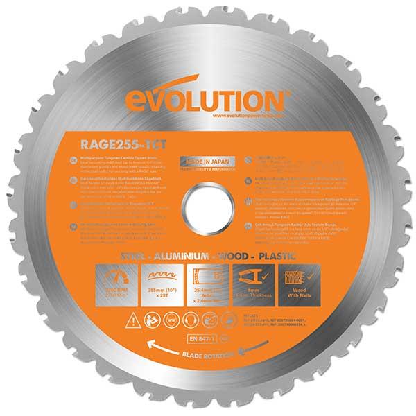 Evoluton 10 inch multi-material cutting tungsten carbide tipped blade