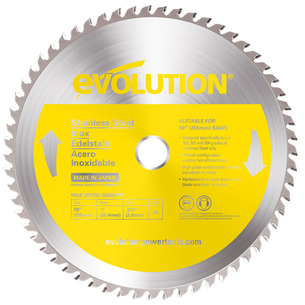 10 in. 66T, 1 in. Arbor, TCT Stainless Steel Cutting Blade