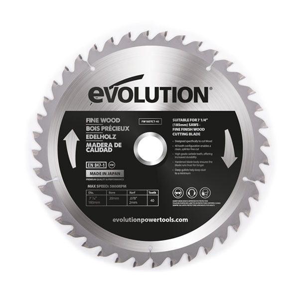 7-1/2 in. 40T, 25/32 in. Arbor, TCT Mild Steel and Ferrous Metal Cutting Blade